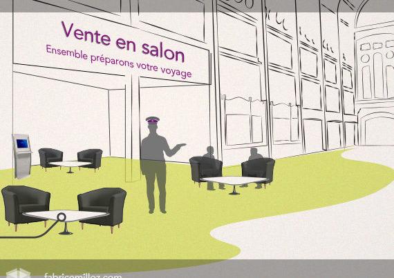 Vente en salon - Gare SNCF de Rouen