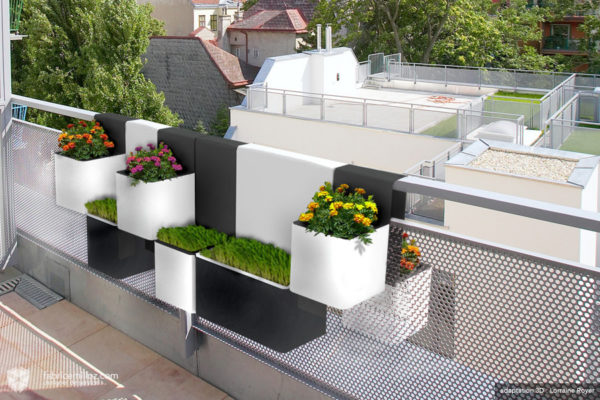Kubes, jardinière pour balcon