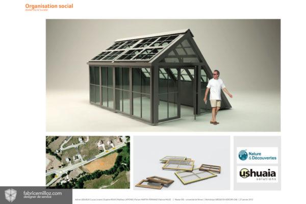 Modèle de structure pour les jardins