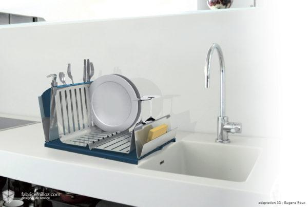Sini, égouttoir à vaisselle